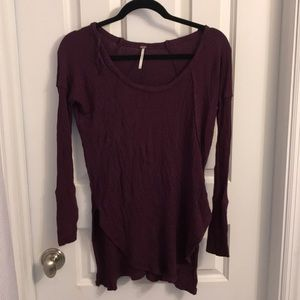 Free People Waffle Top